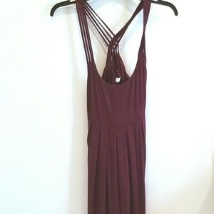 Calvin Klein burgundy sun dress